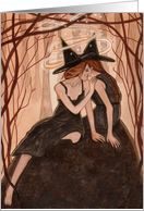 Whispers Only Sisters Understand - Witch Art card