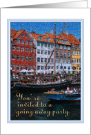 Going Away Party Invitation Eurpoean Canals card