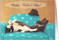Happy Father's Day French Bulldog Humor Card