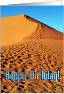 Happy birthday greeting card, over the sand hill card