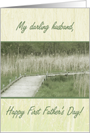 Darling Husband - Happy 1st Father's Day card