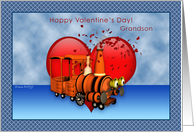 Grandson - Train Happy Valentine's Day card