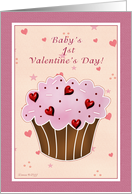 Baby's First Valentine's Day - Cupcake card
