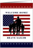 Navy - Welcome Home Brave Sailor card
