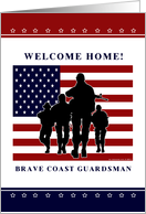 Coast Guard - Welcome Home Guardsman card