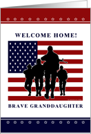 Granddaughter - Welcome home from military card