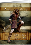 Pirate - Happy Talk Like a Pirate Day card