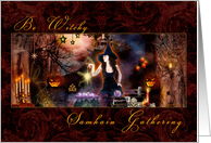Samhain Gathering Invite - Be Witchy Magical Witch card