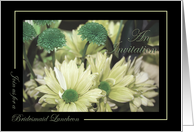 Bridesmaid Luncheon Invitation - Green Sepia-Tone Daisy Bouquet card