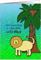 Announcing a new little wild thing-we're expecting-lion card