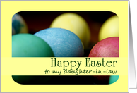 Happy Easter Daughter-in-Law-Colored Eggs card