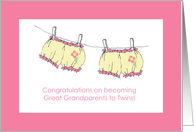 Congratulations Great Grandparents to Twins card