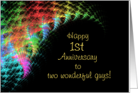 Gay 1st Anniversary card