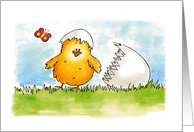 Happy Easter Chick just hatched card