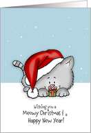 Wishing you a meowy Christmas - Holiday Card for Cat Lovers card