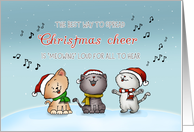 Christmas Cheer - Caroling Cats - Holiday Card