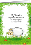 Hey coach,..to sheep for a birthday present? card
