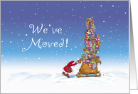 Christmas - We've moved! card