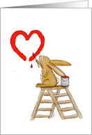 I love you heart - Some Bunny loves you! card