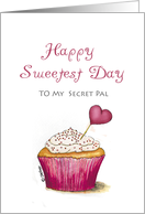 Sweetest Day - Secret Pal - Cupcake with Heart card