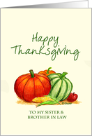 Happy Thanksgiving to my Sister and Brother in Law card