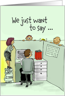 Employee Anniversary - Humorous - Cubicle card