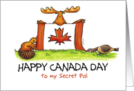 Humorous Happy Canada Day to my secret pal card