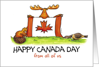 Humorous Happy Canada Day from all of us card