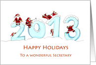 2013 General Business - Humorous Happy Holidays to Secretary card