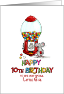 Happy 10th Birthday to avery special little girl, Tenth Birthday, 10 card
