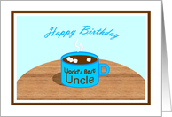 Happy Birthday - Word's Best Uncle Mug card