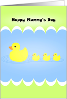 Cute Mommy's Day with Duckies card