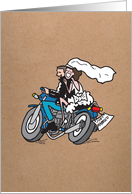 Motorcycle Wedding - Kraft Look Wedding Card