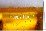 Happy Hour Invitation with Beer card
