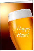 Happy Hour Cold Beer Invitation card