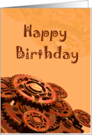 Happy Birthday Steampunk Gears Card