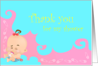 Thank you for my Baby Shower Card