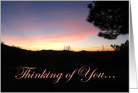 Thinking of you Sunset - Pleasanton CA card