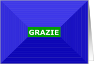 Grazie, Thank You Italian, 3D Optical Illusion Effect card