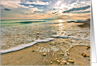 Love, You are Special to Me Sea Shells and Sunset card