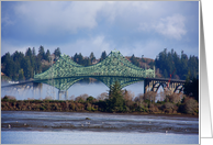 North Bend, Oregon, bridge, blank inside card
