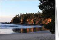 Sunset Beach State Park, Coos Bay, Oregon, photograph, blank inside card