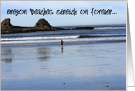 Oregon Beaches Stretch on forever, landscape, blank inside card