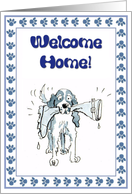 Welcome Home - cute spaniel dog card