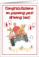 Congratulations on passing your driving test! card