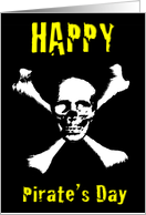 Happy Pirate's Day Skull & Crossbones card
