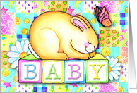 Baby Bunny, Birth Announcement card