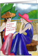 Birthday Wishes Dear Girlfriend, Two Women Seated card