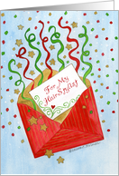 For Hairstylist Christmas Money Card Red Envelope with Streamers card