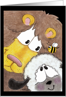 Lion and Lamb- Thinking of You card